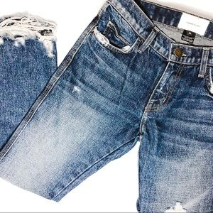 Current/Elliot | Cropped Distressed Jeans